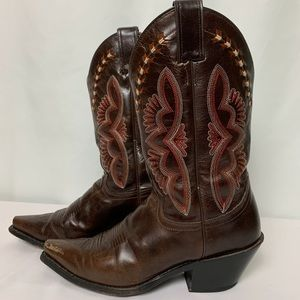 Justin Boots Ladies Size 8 Brown Damiana